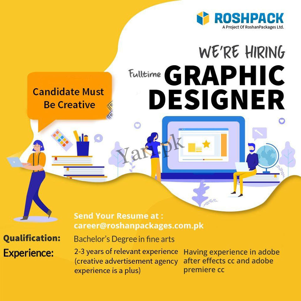 Roshan Packages Limited Graphic Designer Jobs in Lahore | 2020