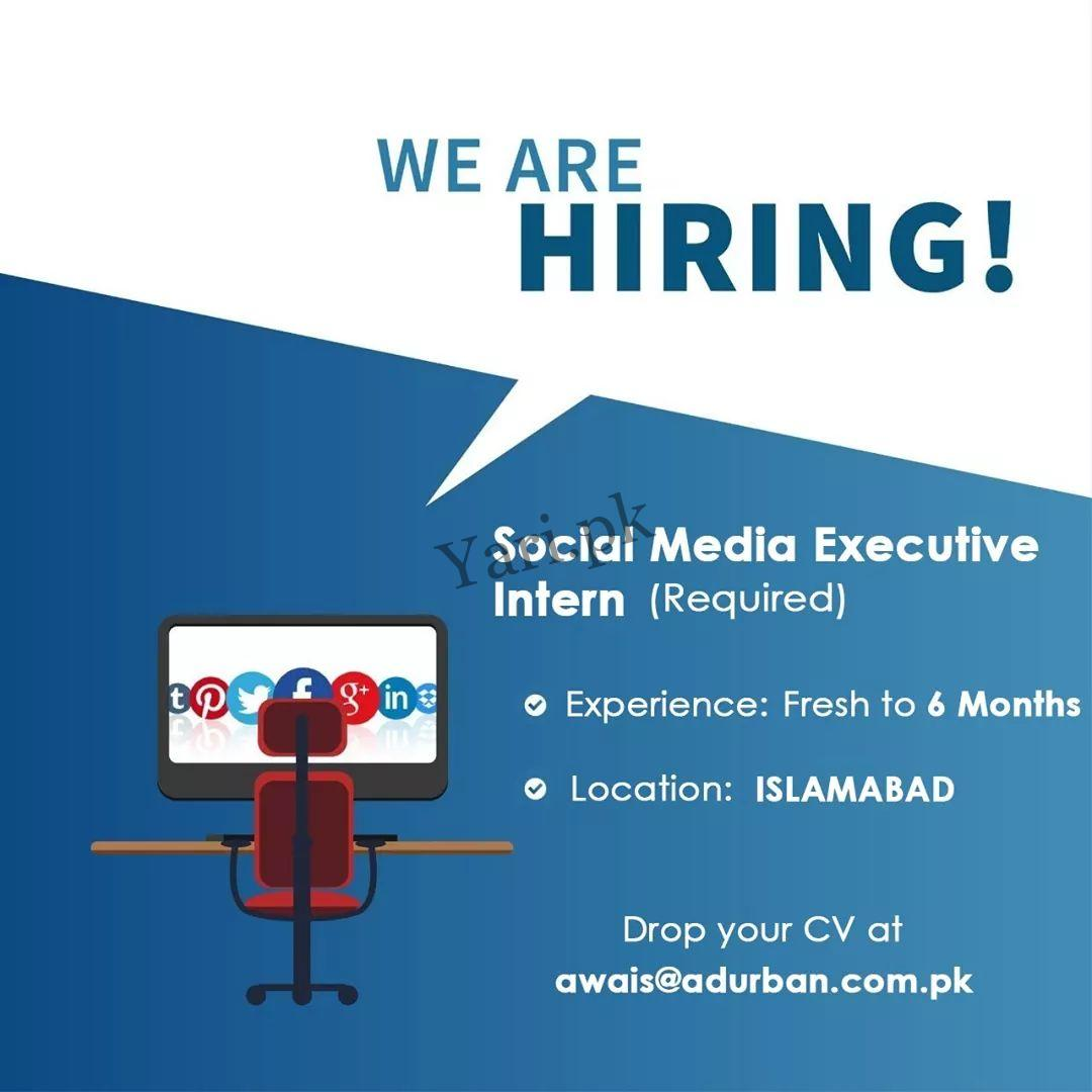 social media executive intern required in islamabad