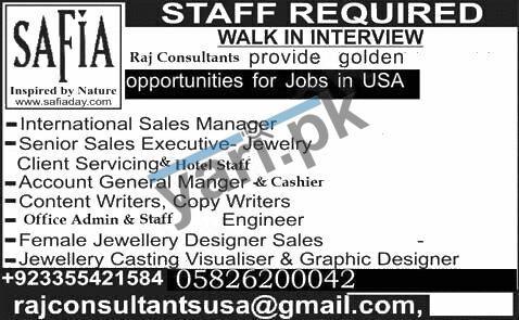 International Sales Manager & Sales Executive Jobs