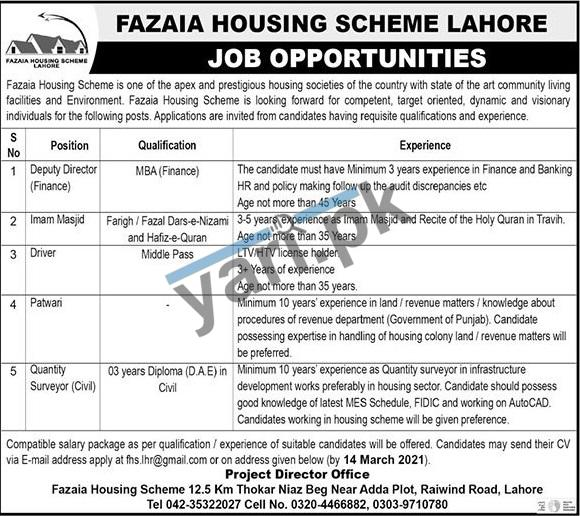fazaia-housing-scheme-jobs-2021-for-quantity-surveyor-civil