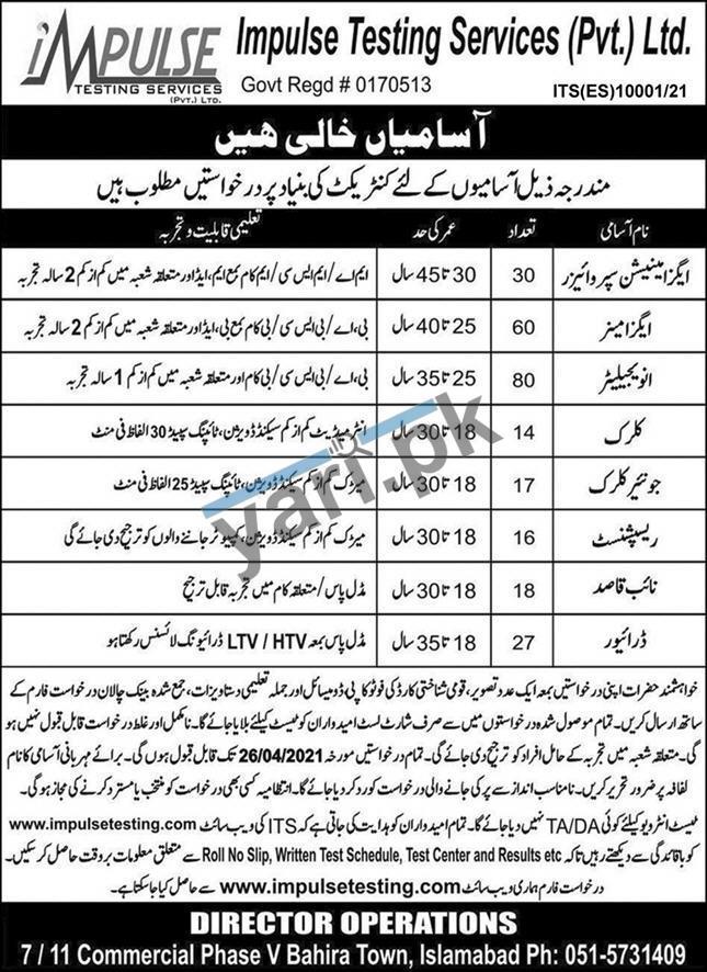Jobs in Islamabad and Rawalpindi