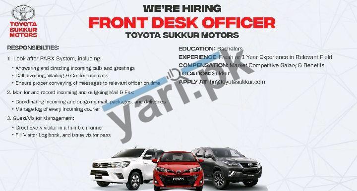 Toyota Sukkur Motors Jobs