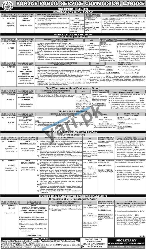 ppsc-jobs-2021-for-veterinary-officer