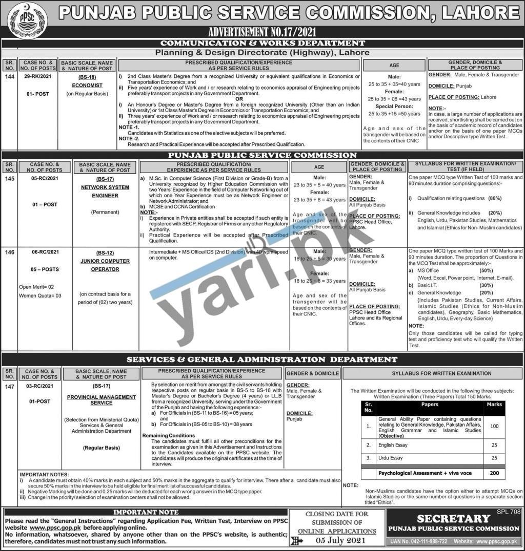ppsc-jobs-2021-for-economist