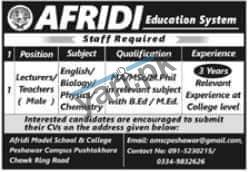 lecturer-jobs-in-afridi-education-system-2021