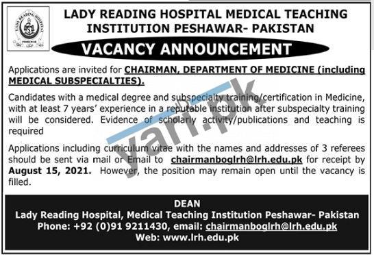 Lady Reading Hospital Medical Teaching Institution