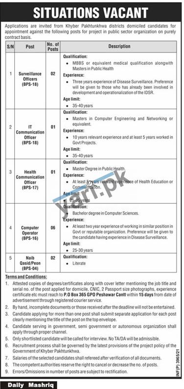 officers-jobs-in-public-sector-organization-2021